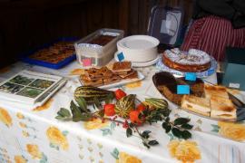 Kuchenangebot beim Bauernherbstmarkt Rimsting